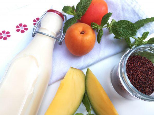 Zutaten für Porridge mit Früchte Salsa