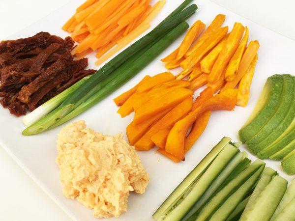 Zutaten für Sushi Rolls