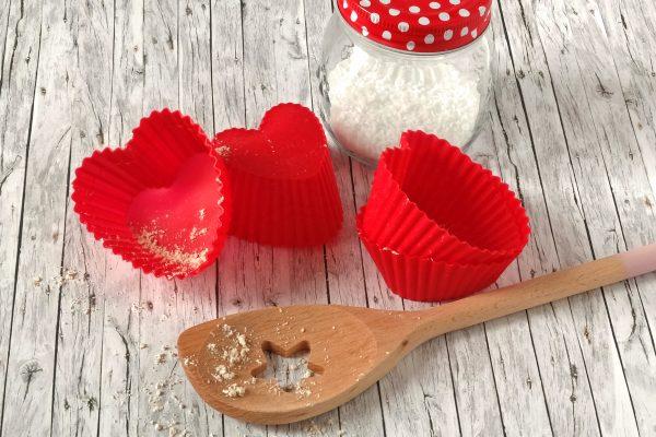 Herz Muffins zum Valentinstag