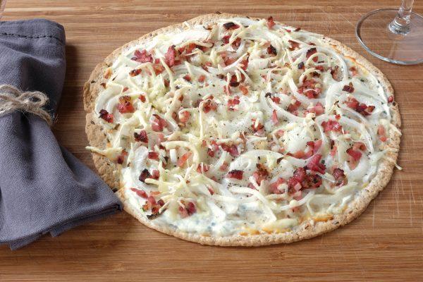 Rezept Flammkuchen Elsässer Art auf Tortilla Wrap