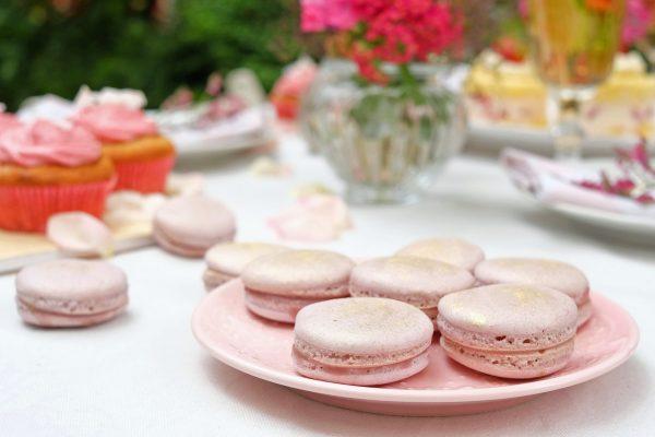 Lila Macarons mit Heidelbeer-Ganache