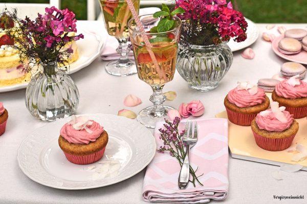Rezept für Himbeer Kokos Cupcakes