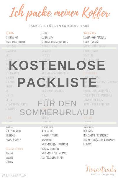 Kostenlose Packliste für den Sommerurlaub