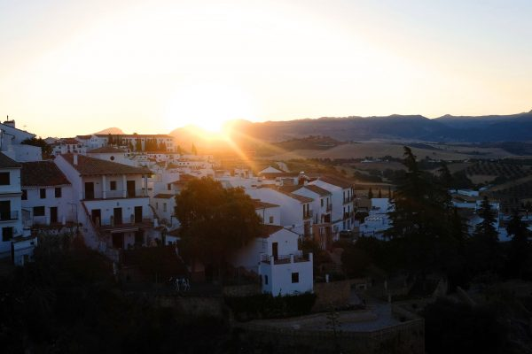 Sonnenaufgang in Ronda, Andalusien