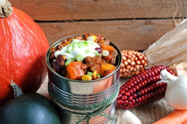 Rezept für pikantes Kürbis Chili con Carne