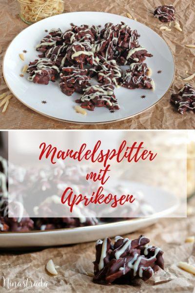 Rezept für Zartbittermandelsplitter mit getrockneten Aprikosen