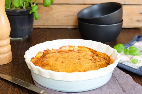 Einfaches und schnelles Rezept für Lauch Hack Auflauf mit Käse überbacken Low Carb