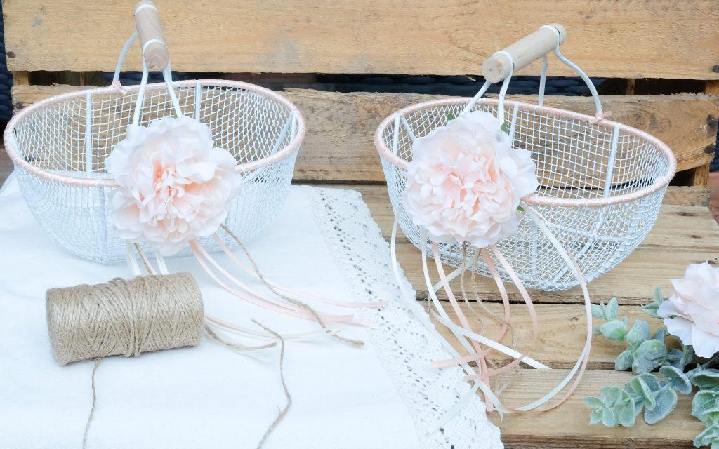 Hochzeits Diy Blumenkorbchen Fur Die Blumenkinder Basteln Ninastrada