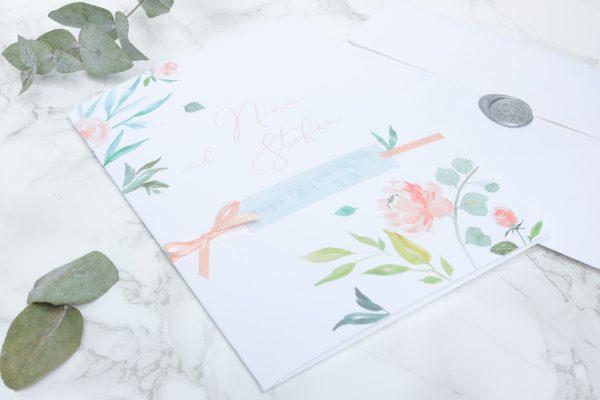 Hochzeit Einladung Pocket folder von cottonbird