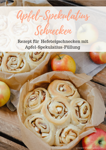 Einfaches Rezept für den Herbst Apfel-Spekulatius Schnecken mit Hefeteig