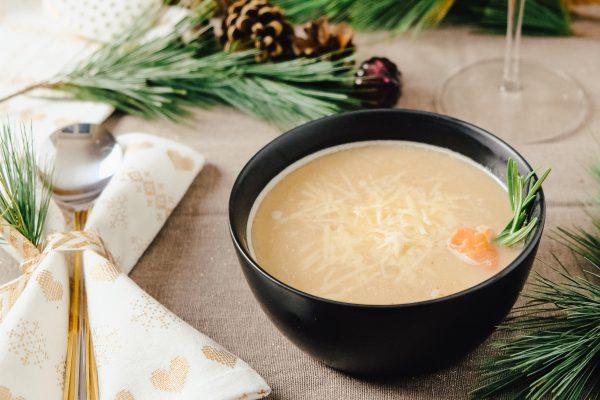 Rezept für Maronensuppe mit Räucherlachs und Trüffel