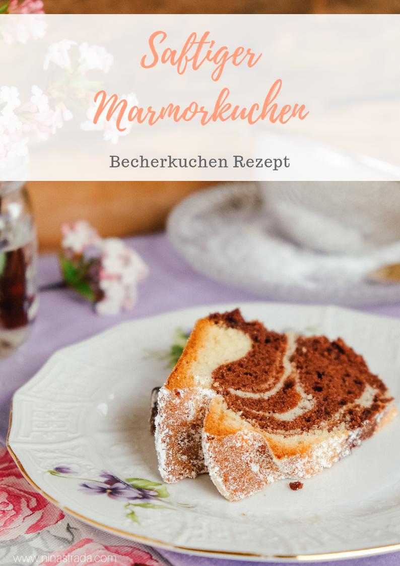 Rezept für Becherkuchen: saftiger marmorkuchen einfach backen