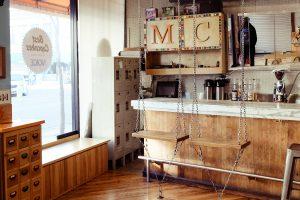 Cafe für Chicago Mollys Cupcakes mit Füllung