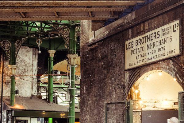London Borough Market Gewölbe und Gebäude