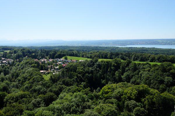 Ausblick vom Kloster Andechs über den Ammersee