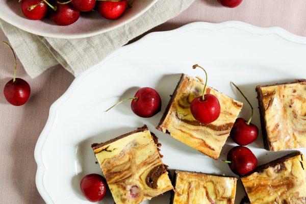 Rezept für Käsekuchen Brownies