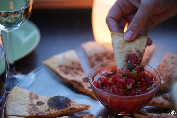 Quesadillas mit Tomaten-Salsa
