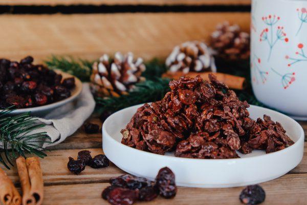 Schoko Crossies mit Cranberrys Geschenk aus der Küche DIY Weihnachten