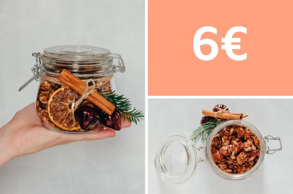 Geschenke aus der Küche: selbstgemachtes Knuspermüsli für 6 Euro