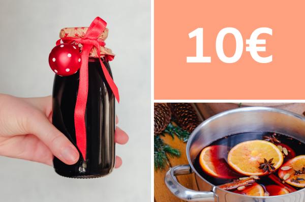 Geschenke aus der Küche: selbstgemachter Glühweinsirup für 10 Euro