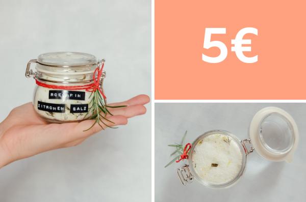 Selbstgemachtes Kräutersalz: Rosmarin-Zitronen-Salz für 4 Euro