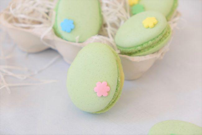 Osterei-Macarons Rezept für Macarons zu Ostern