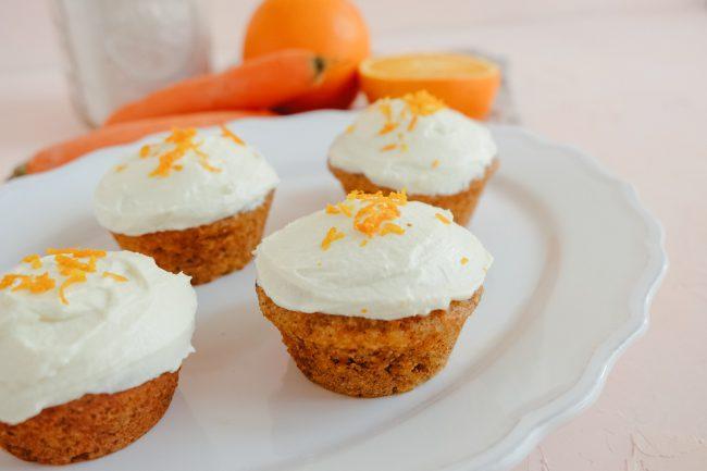 Rezept Karotten Muffins mit Orange und Frischkäse-Frosting