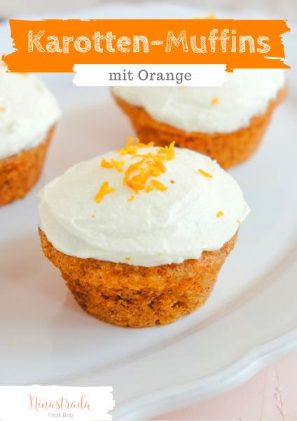 Rezept Karotten-Muffins mit Orange und Frischkäse Frosting