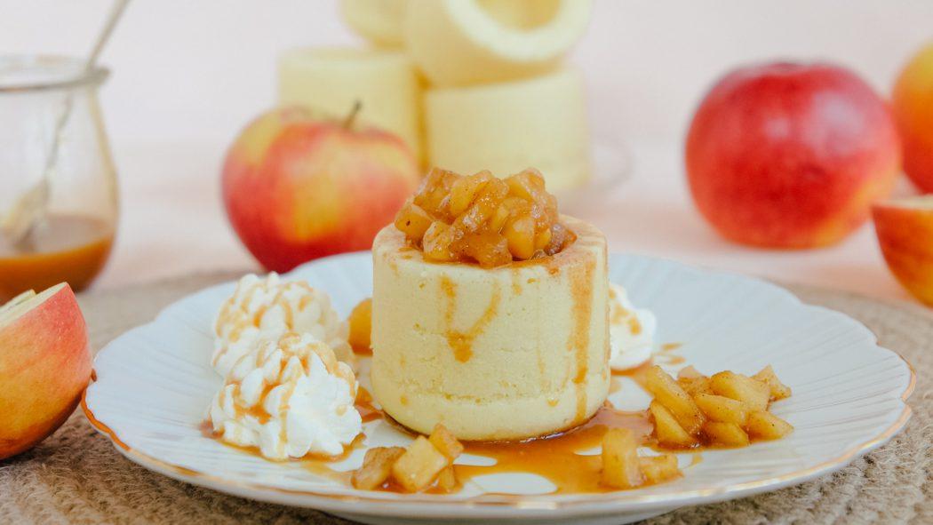 Einfaches Rezept für Apfel-Karamell-Cake-Cups