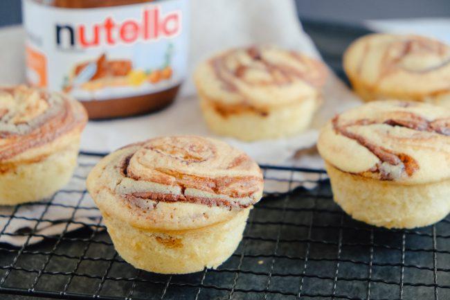 Einfaches Rezept für Nutella-Muffins mit flüssigem Kern aus Nutella