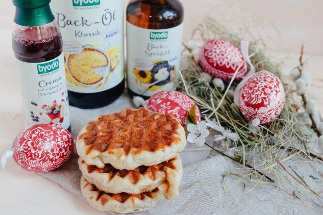 Zimtschneckenwaffeln Rezept zum Backen für Ostern