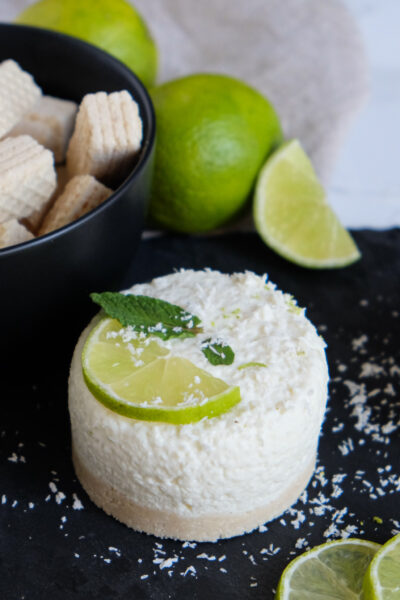 Kokos-Limetten-Törtchen Rezept für No Bake Käsekuchen