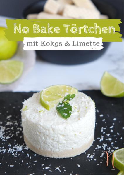 No Bake Törtchen mit Kokos und Limette