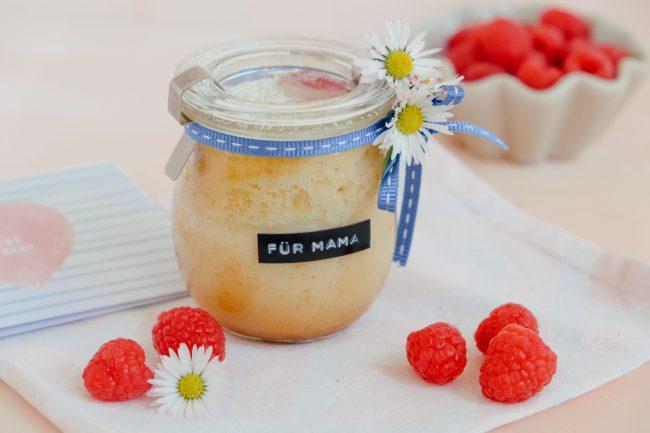 Himbeer-Zitronen-Kuchen im Glas für Muttertag
