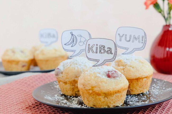 Saftige Kirsch-Bananen-Muffins